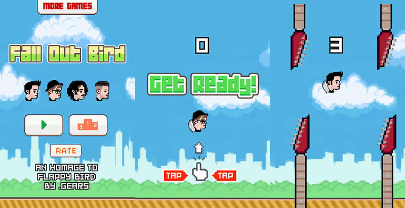 Fall Out Bird, el clon de Flappy Bird de la Banda Fall Out Boy - fall-out-bird-juego