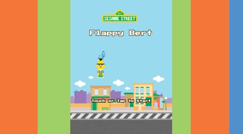 Flappy Bert, el clon de Flappy Bird en Plaza Sésamo para jugar online - flappy-bert