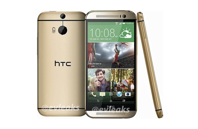 Se filtra la apariencia del nuevo teléfono insignia de HTC y aparece en color dorado - htc-one-2014-dorado-800x524