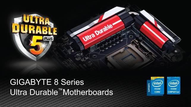 Tarjetas madre GIGABYTE serie 8 ya son compatibles con los nuevos procesadores INTEL - motherboards-gigabyte-series-8