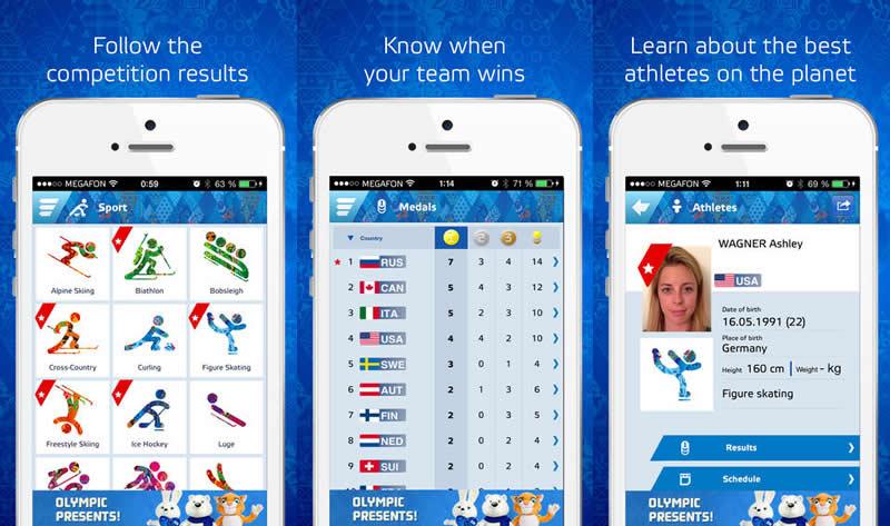 Sigue los juegos de Sochi 2014 desde tu celular - resultados-sochi-2014-app