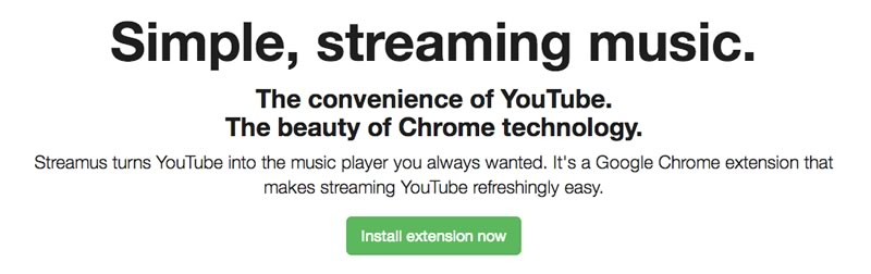 Escuchar música de YouTube desde Chrome con Streamus - streamus-chrome