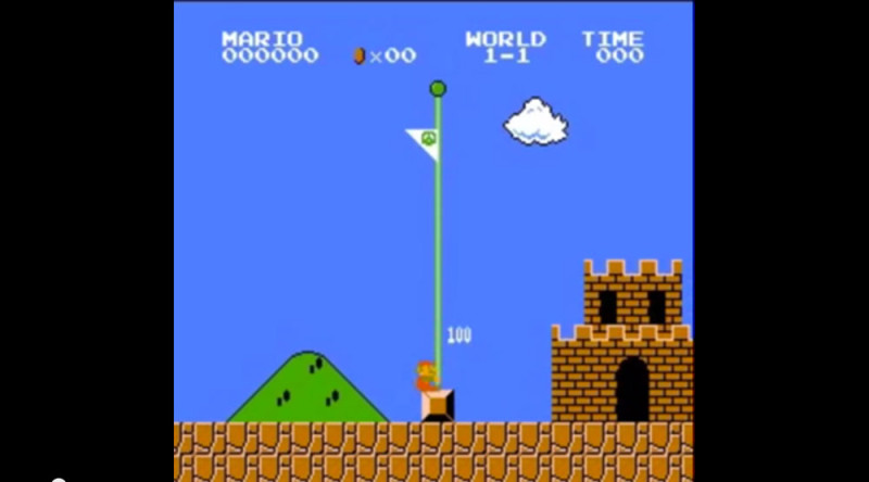 Así es como se pasa Super Mario Bros con la menor cantidad de puntos posible - super-mario-bros-low-points-800x444