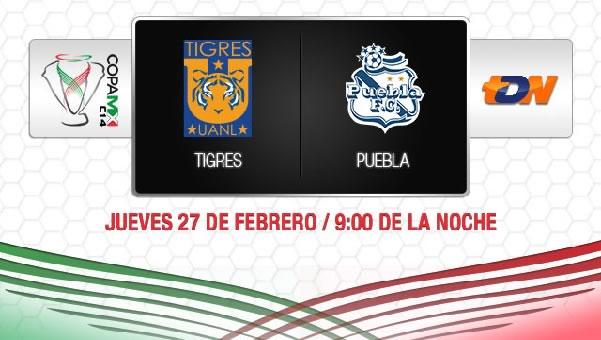 Tigres vs Puebla en vivo, Copa MX 2014 - tigres-vs-puebla-copa-mx-2014
