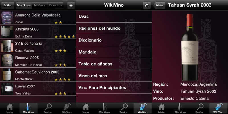 Aplicaciones de vinos para iPhone - vinoguia-apps-vinos-iphone