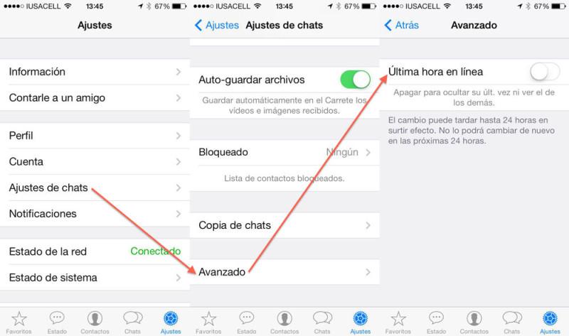 Cómo ocultar tu última conexión en WhatsApp - whatsapp-ocultar-conexion-ios-800x473