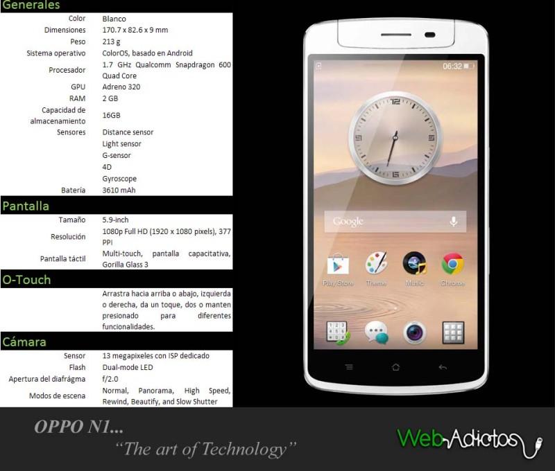OPPO llega a México con Telcel - Tabla-N1-800x680