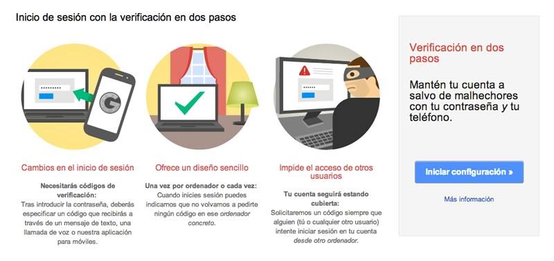 Cómo proteger el acceso a tu correo electrónico habilitando la autenticación en 2 pasos - activar-verificacion-2-pasos-gmail