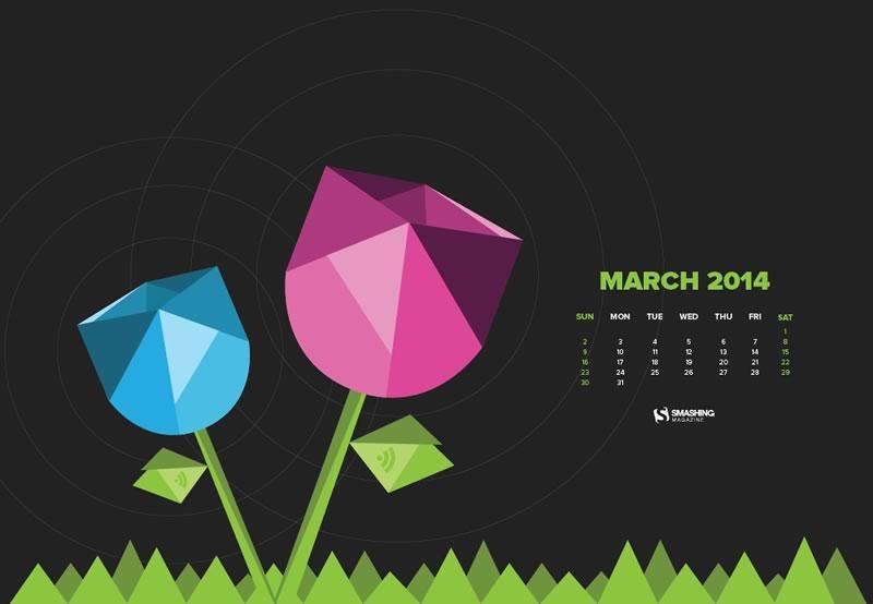 Decora tu escritorio con estos fondos con el calendario de Marzo - calendario-marzo-wireless-spring