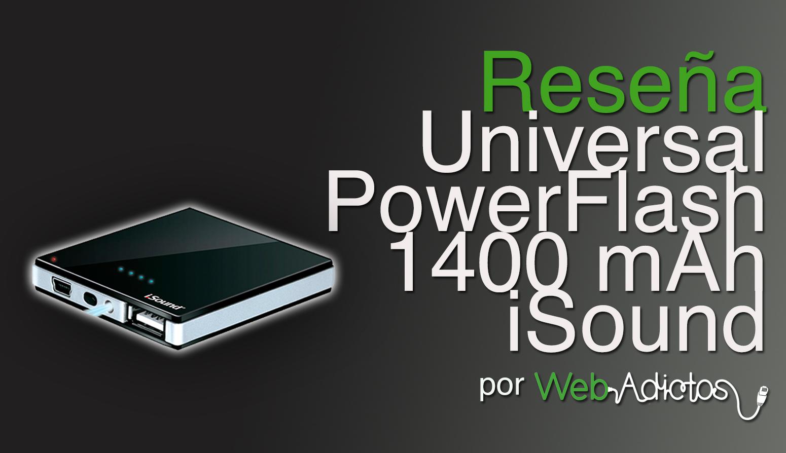 Universal PowerFlash Backup Battery de iSound, una batería de respaldo para tus dispositivos