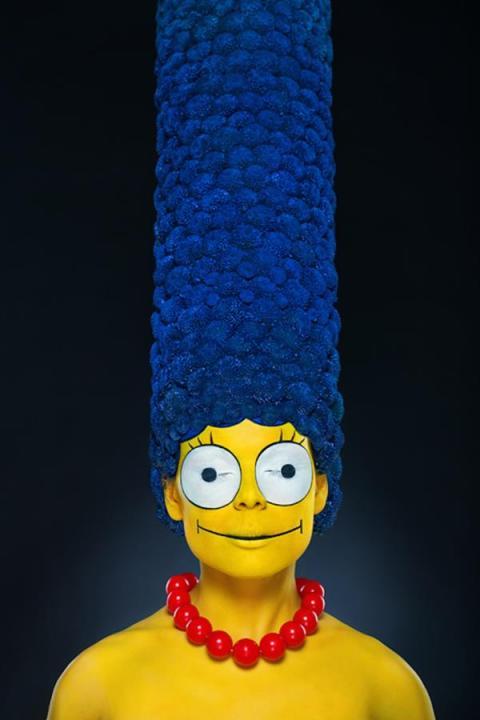 Un terrorífico Body Paint de Marge Simpson que no te puedes perder - marge