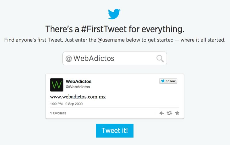 ¿Cuál fue tu primer Tweet? Descúbrelo con la nueva herramienta de Twitter celebrando su 8º cumpleaños - primer-tuit