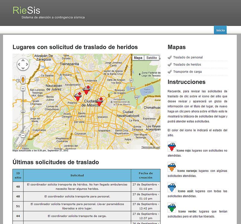 RieSis, software para contingencias ocasionadas por terremotos en México desarrollado en IPN - riesis-software-terremotos-mexico