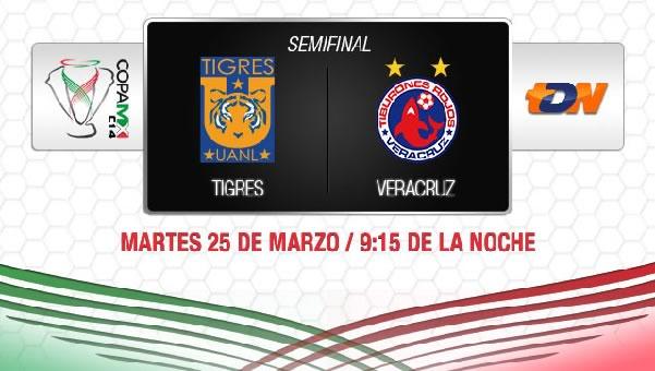 Tigres vs Veracruz en vivo, Copa MX 2014 (Semifinal) - tigres-vs-veracruz-copa-mx