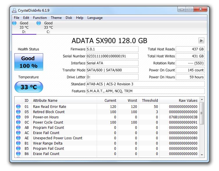 Disco SSD ADATA XPG SX900 de 128GB [Reseña] - 142