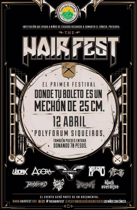 Hair Fest, un festival de Rock para ayudar a niños con cancer - Hair-Fest-mexico