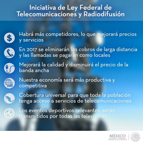 La Ley TELECOM explicada por la presidencia - Infografia-Telecom