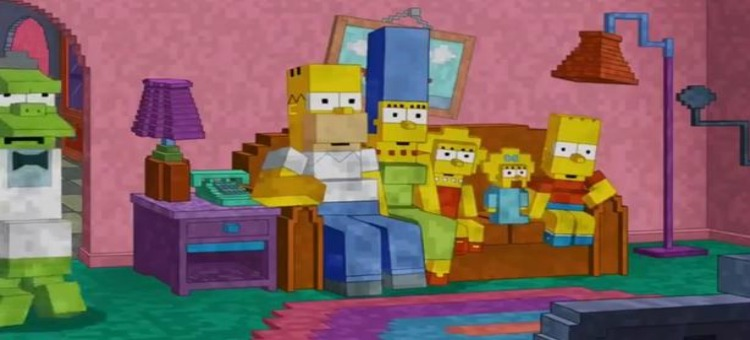 Intro de Los Simpsons al estilo Minecraft [Video] - SIMCRAFT1
