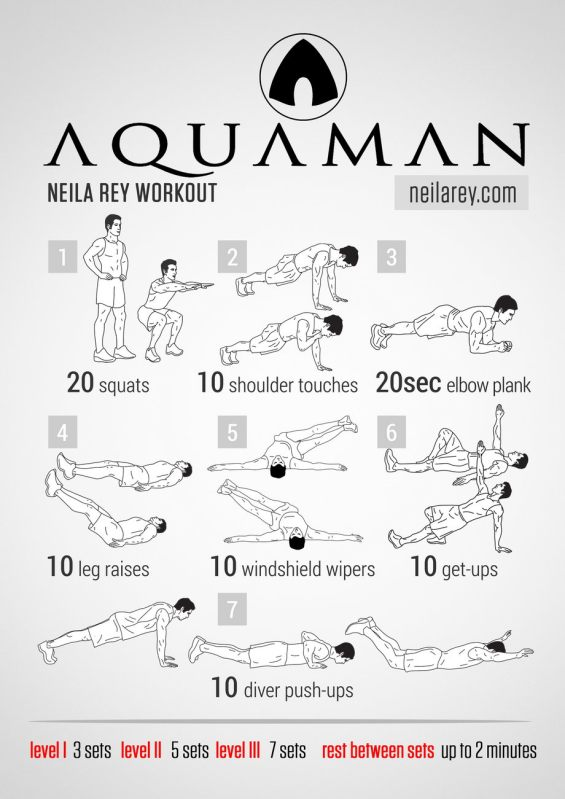 Rutinas de Ejercicios inspiradas en Superheroes - aquaman-workout