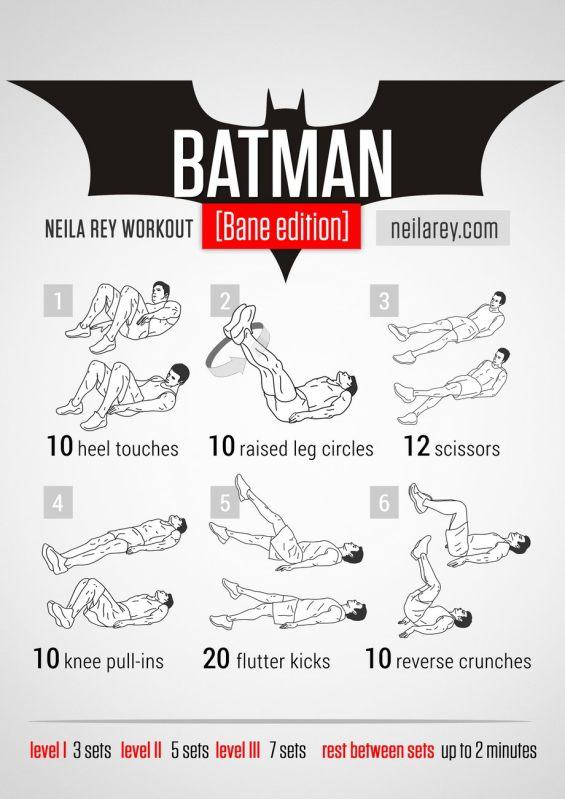 Rutinas de Ejercicios inspiradas en Superheroes - batman-bane-edition-workout
