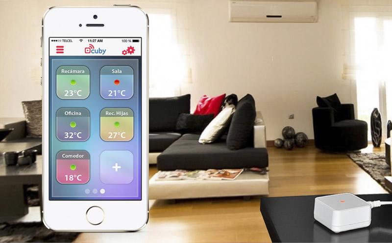 Cuby, el dispositivo que permite controlar el aire acondicionado desde tu smartphone desarrollado en México - cuby-aire-acondicionado-smartphone