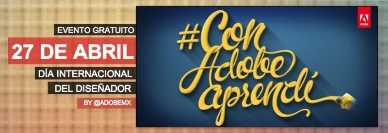 Capacitaciones de Adobe en línea para celebrar el día del diseñador ¡No te las pierdas! - dia-del-disenador-adobe-800x274