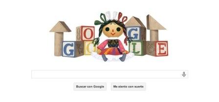 Día del niño en México celebrado por Google con un Doodle
