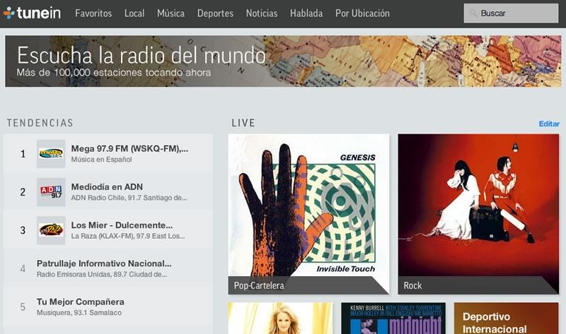 escuchar radio online Escuchar Radio online de México y otros países en TuneIn