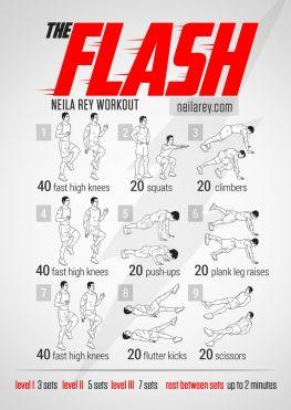 Rutinas de Ejercicios inspiradas en Superheroes - flash-workout