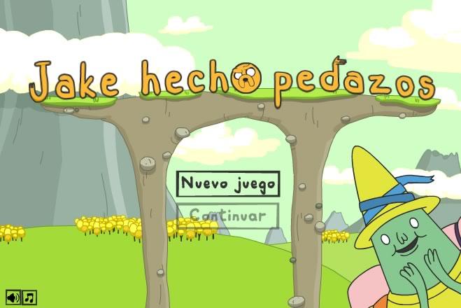 Juegos de hora de aventura en Cartoon Network - jake-hecho-pedazos