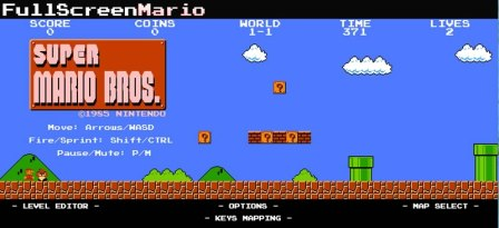 Descarga Full Screen Mario y juega mario bros en tu navegador