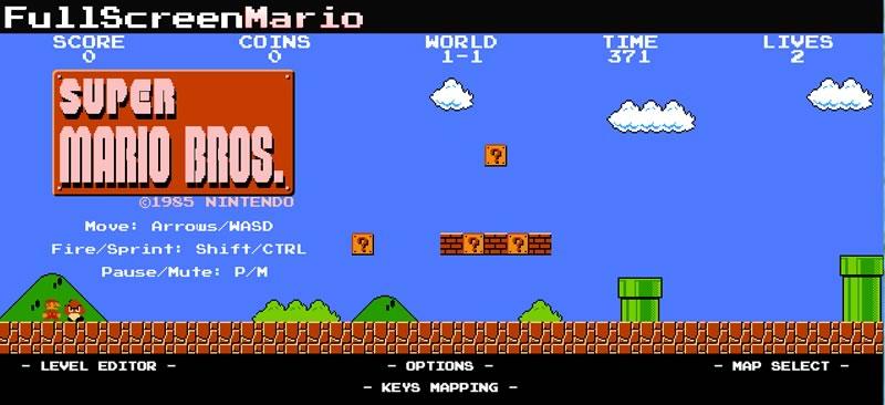 Descarga Full Screen Mario y juega mario bros en tu navegador - juegos-de-mario-bros