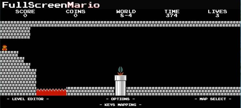 Descarga Full Screen Mario y juega mario bros en tu navegador - juegos-de-mario-full-screen-mario