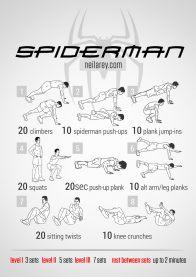 Rutinas de Ejercicios inspiradas en Superheroes - spiderman-workout
