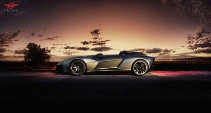Rezvani BEAST, el auto deportivo con piezas impresas en 3D - Rezvani-Beast-Sunset