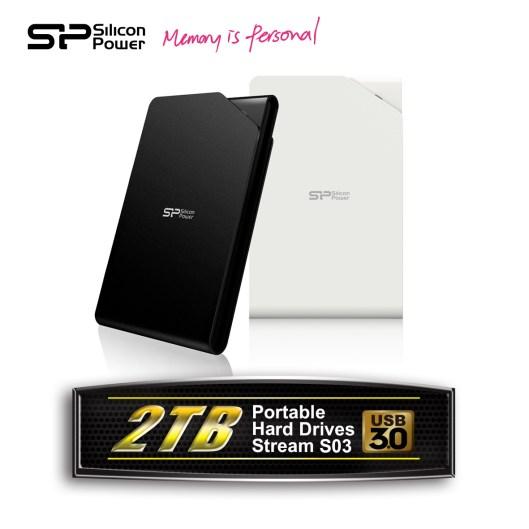Discos duros externos de 2TB USB 3.0 son presentados por Silicon Power - SPPR_2TB-USB-3.0-Portable-Hard-Drives_Stream-S03