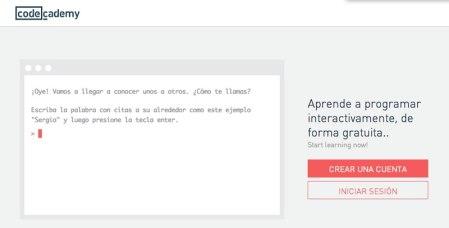Codecademy, ya tiene cursos de programación en español