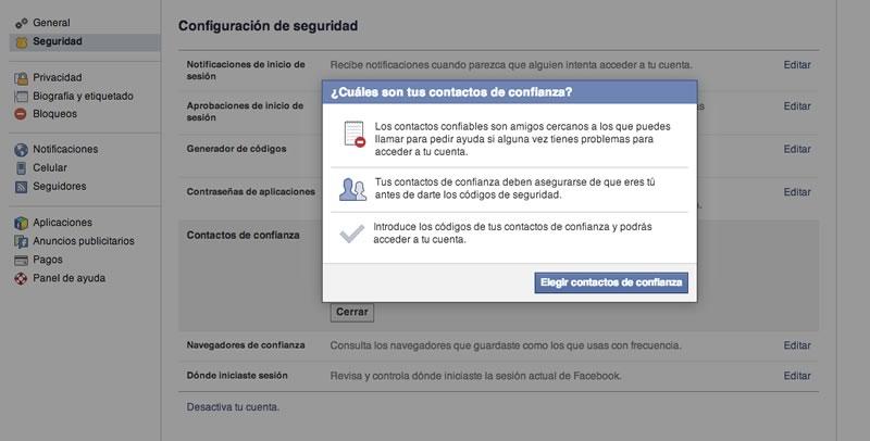 contactos de confianza facebook recuperar cuenta Usa contactos de confianza para recuperar tu Facebook sin complicaciones
