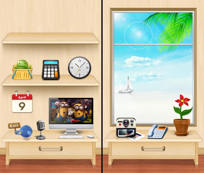 Mobolive, te permite personalizar tu android y aplicarle temas [Reseña] - escena-beach-house-mobolive