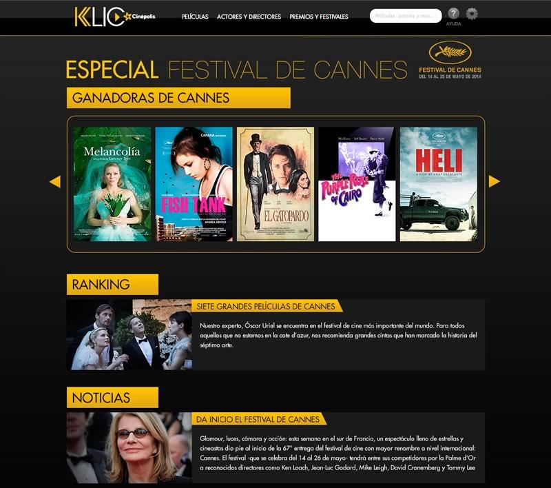 El Festival de Cannes online en Cinepolis Klic - festival-de-cannes-online-cinepolis-klic