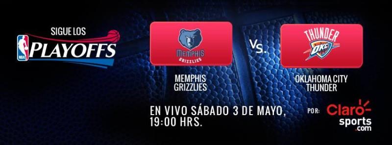 Playoffs NBA en vivo: Oklahoma City Thunder vs Memphis Grizzlies - nba-en-vivo-800x296