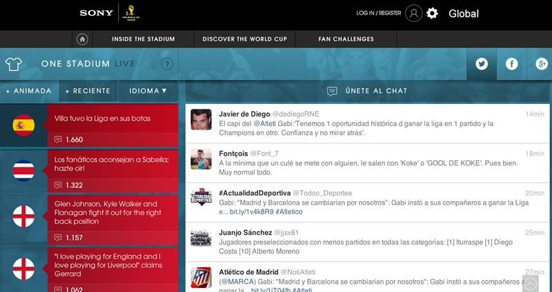 One Stadium Live, la red social de futbol lanzada por Sony - one-stadium-live-red-social-futbol