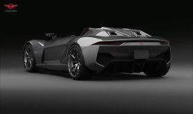 Rezvani BEAST, el auto deportivo con piezas impresas en 3D - rezvani-beast-studio-rear2