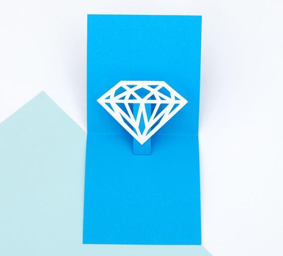 5 Tarjetas del día de la madre para imprimir que te van a gustar - tarjetas-dia-de-la-madre-para-imprimir-pop-up-diamond