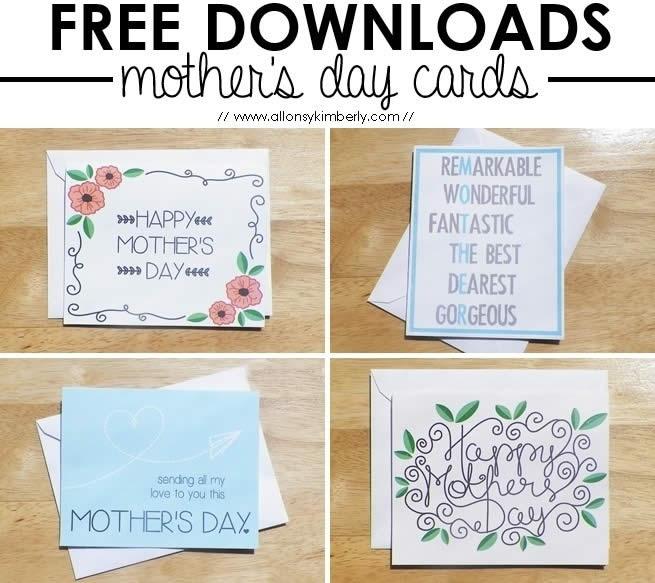5 Tarjetas del día de la madre para imprimir que te van a gustar - tarjetas-para-mama-imprimir