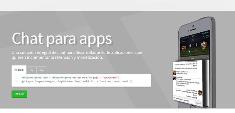 Yakmob, un chat que puedes integrar en tus apps ¡Gratis! - Yakmob