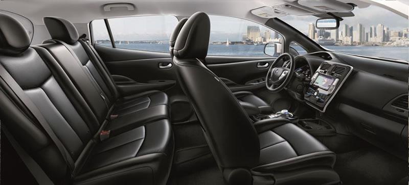 Nissan LEAF, el primer auto 100% eléctrico que se venderá en México - nissa-leaf-interiores