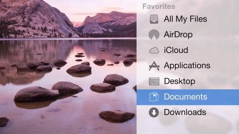 os x yosemite video OS X Yosemite y su nueva interfaz mostradas en video