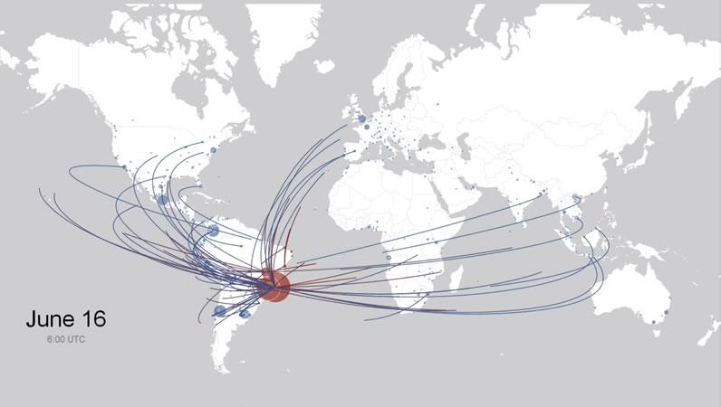 México, el segundo país con más aficionados en Brasil 2014 según sus check-ins en Facebook - paises-en-mundial-2014