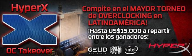 Eliminatorias del torneo mundial del overclocking de HyperX en América Latina - HyperX-Overclock-Takeover
